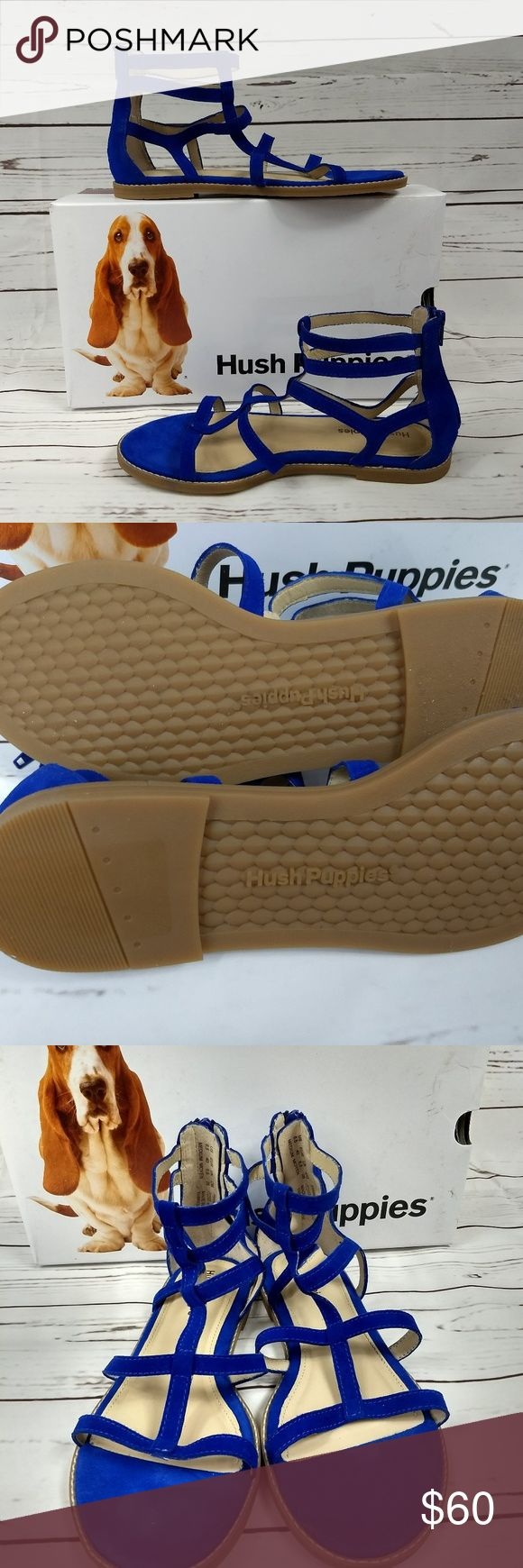 Hush Puppies Blue Gladiator Sandals Size 8.5 Women Original retail price $78.95.  New in box, tags removed.  I ship fast! Please ask questions before purchasing. IN425CL Hush Puppies Shoes Sandals