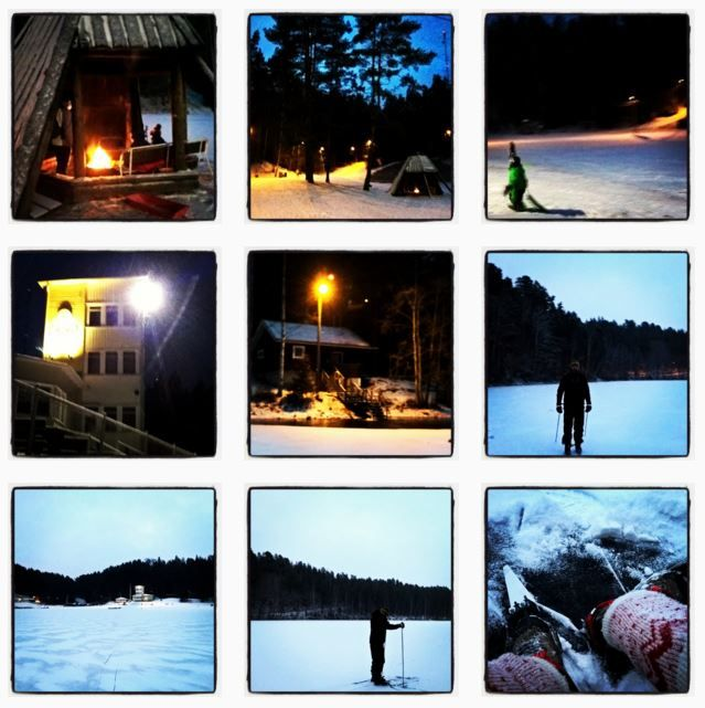 Ahvenisto by winter - skating, skiing, sledge rides, open fire - and place for ice swimming