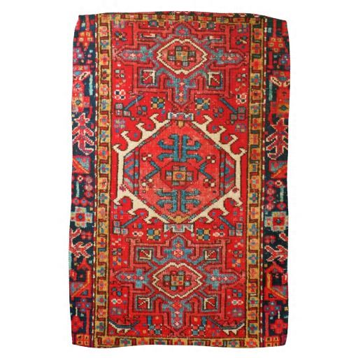 Het Perzische patroon van de tapijt oosterse deken Keuken Handdoek