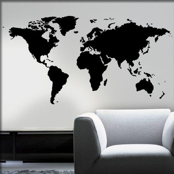Wandtattoo - Wandtattoo Weltkarte bis zu 240cm! - ein Designerstück von herzkauf bei DaWanda