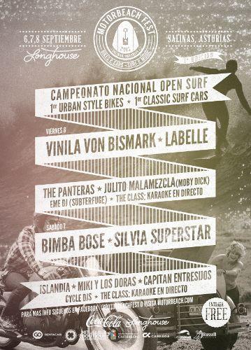 Los días 6 , 7 y 8 de septiembre Salinas (Castrillón) será escenario de la primera edición del MotorBeach Fest.