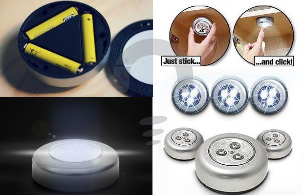 Stick And Click Lampu darurat yang berukuran kecil, sangat cocok untuk digunakan di indoor atau outdoor. Rp 39.000
