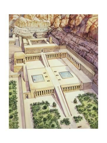 Ancient Egypt, Dayr Al-Bahri Temple of Hatshepsut Giclee Print