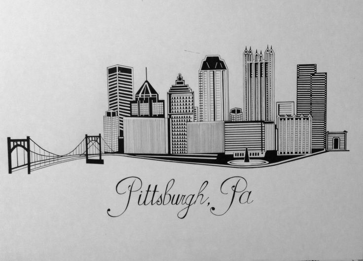 Pittsburgh skyline by SteelCityInk on Etsy https://www.etsy.com/listing/249421897/pittsburgh-skyline