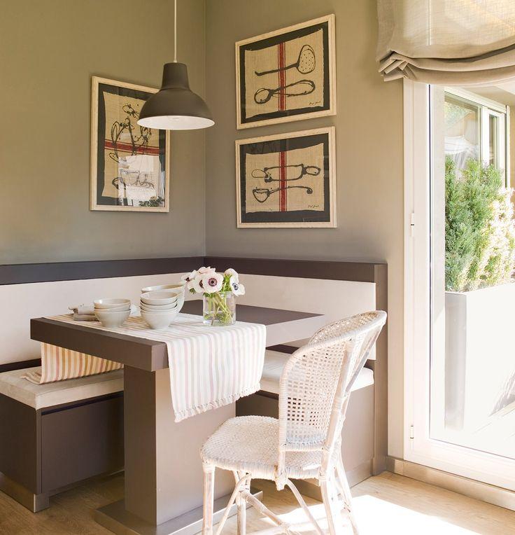 Mesa de juegos de comedor con banco mesa esquinera - Mesa esquinera cocina ...