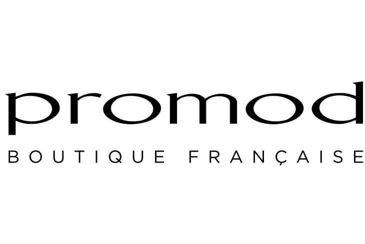 Il logo di #Promod, La Boutique francese che piace molto anche in Italia.