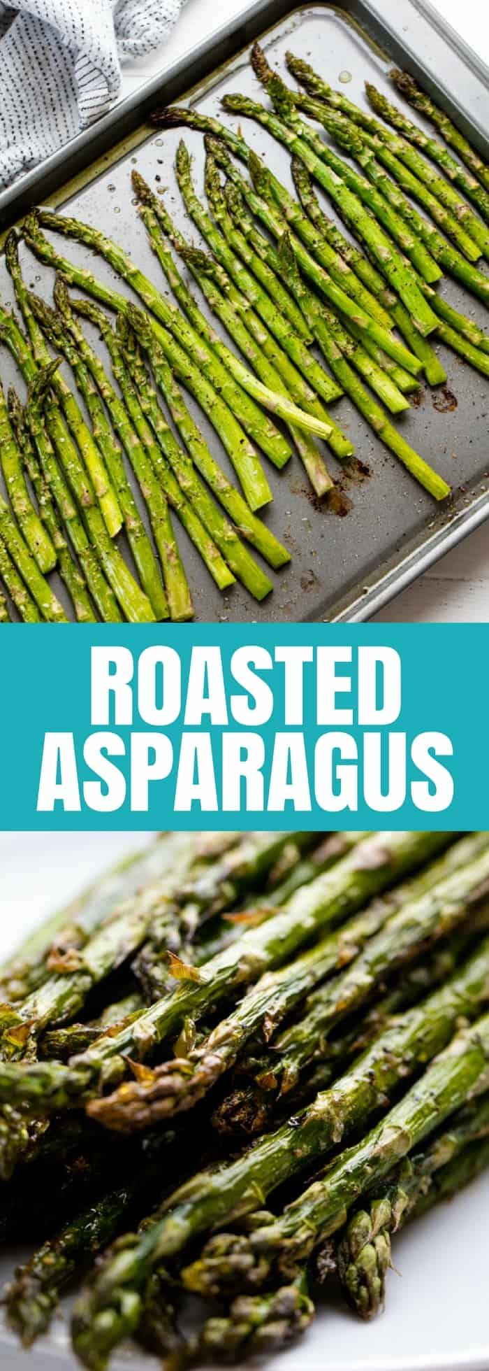 Roasted Asparagus is one of the simplest, most delicious ways to easily cook asparagus in the oven. It requires minimal effort and the result is amazing!  #asparagus #sidedish