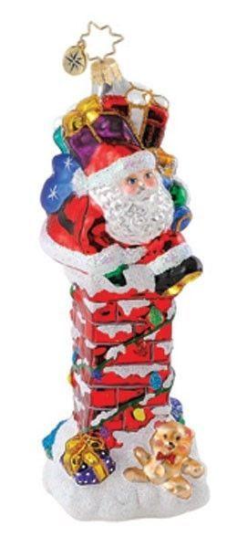 """Christopher Radko Ornament """"Santa's Chimney Challenge"""""""