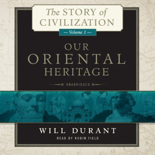 """Now on my bucket list: to finish the entire series of 11 volumes. I love volume 1. The Story of Civilization, Volume 1 By Will Durant chronicles the early history of Egypt, the Middle East, and Asia. An abundance of knowledge I missed in history class! #AudibleApp: """"Our Oriental Heritage"""" by Will Durant, narrated by Robin Field."""