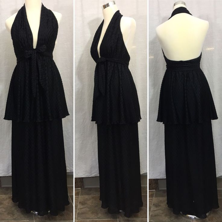 Vintage Black Nightgown Gown Lingerie Long Maxi Pinup Vanity Fair Women's 36/ M  | eBay