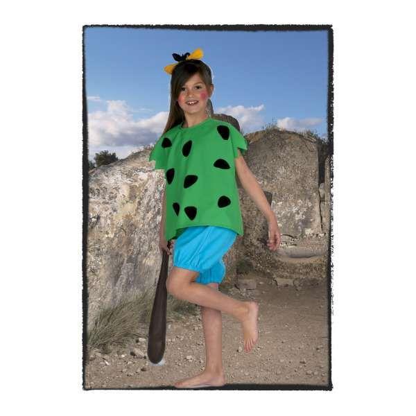 DisfracesMimo, disfraz cavernicola pebbles niña varias tallas.Es ideal para que las pequeñas de la familia puedan transformarse en la inocente protagonista de la serie de dibujos animados los picapiedra.Este disfraz es ideal para tus fiestas temáticas de disfraces de personajes de television para infantiles.