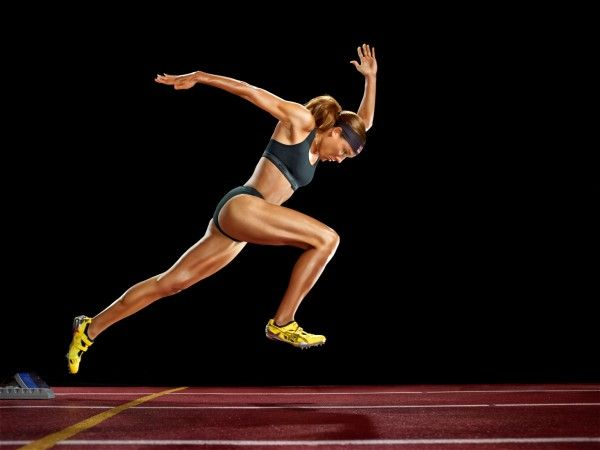 Martin Schoeller photos of Lolo Jones US Olympian.