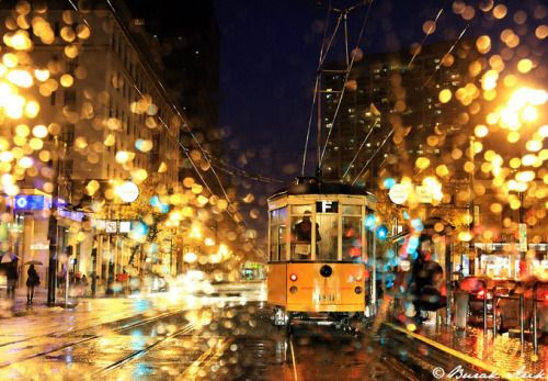 san francisco in the rain by burak-arik