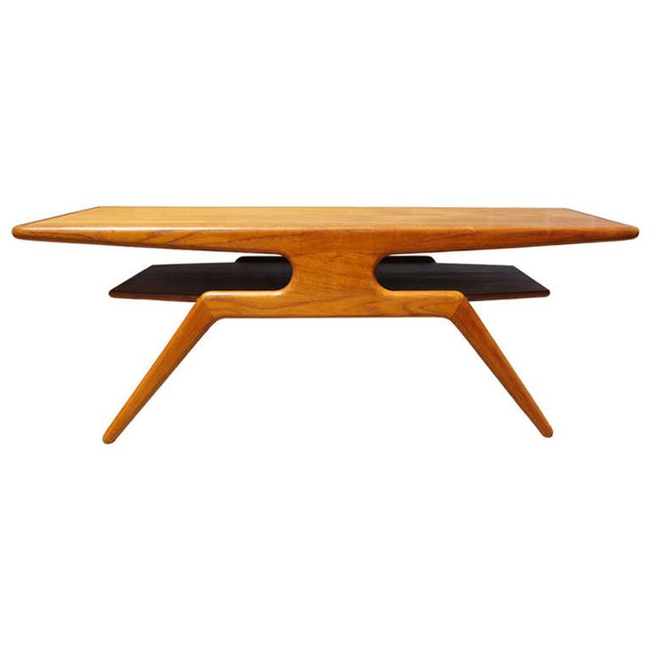 Rare Teak Coffee Table by Johannes Andersen | From a unique collection of antique and modern coffee and cocktail tables at http://www.1stdibs.com/furniture/tables/coffee-tables-cocktail-tables/