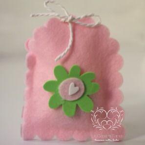 sacchetto feltro per le feste dei piccoli
