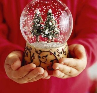 Стеклянный шар со снегом своими руками