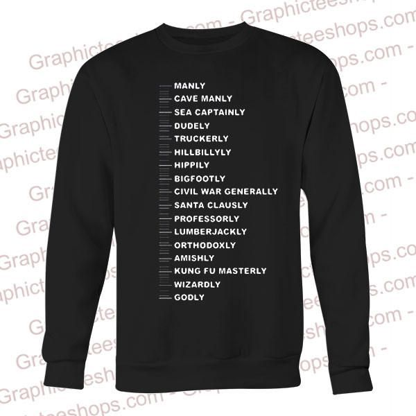 beard ruler manly cave manly sweatshirt