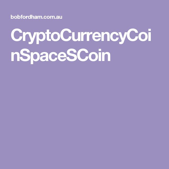 CryptoCurrencyCoinSpaceSCoin