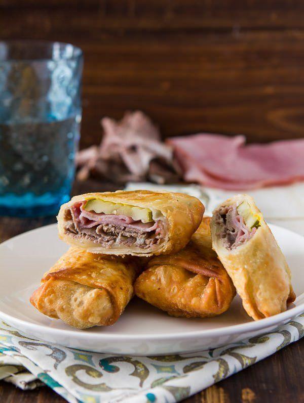 crispy cuban egg rolls