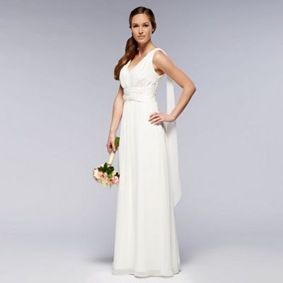 Debut Ivory embellished wedding dress- at Debenhams.com
