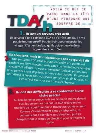Vivre avec le TDA/H  via www.tdah.be                                                                                                                                                                                 More