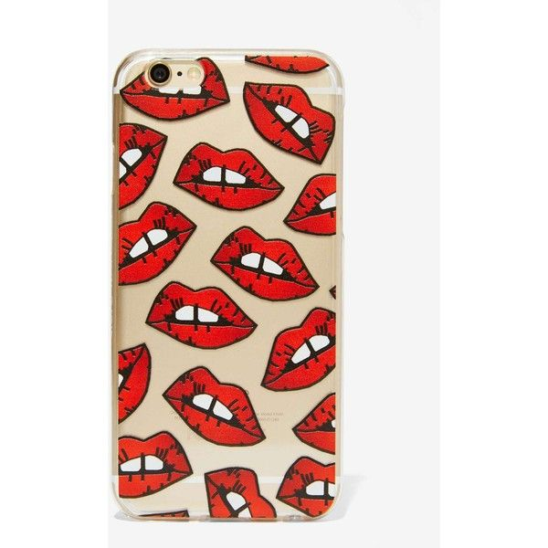 Skinnydip London Smooches iPhone 6 Case ($28) ❤ liked on Polyvore featuring accessories, tech accessories, red iphone case, clear iphone cases, apple iphone cases, iphone cover case and iphone cases