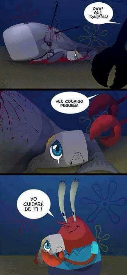 Resultado de imagen para como conocio don cangrejo a arenita
