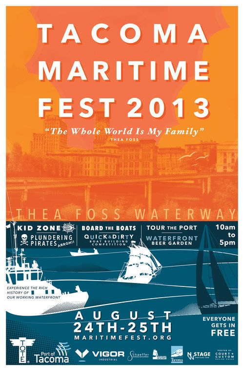 Celebrate Tacoma's nautical history at the 21st annual Tacoma Maritime Festival Aug. 24 - 25. A waterfront beer garden and boat building competition will accompany the usual festival activities, food and music. Tour the port and witness cannon battles - admission is free!