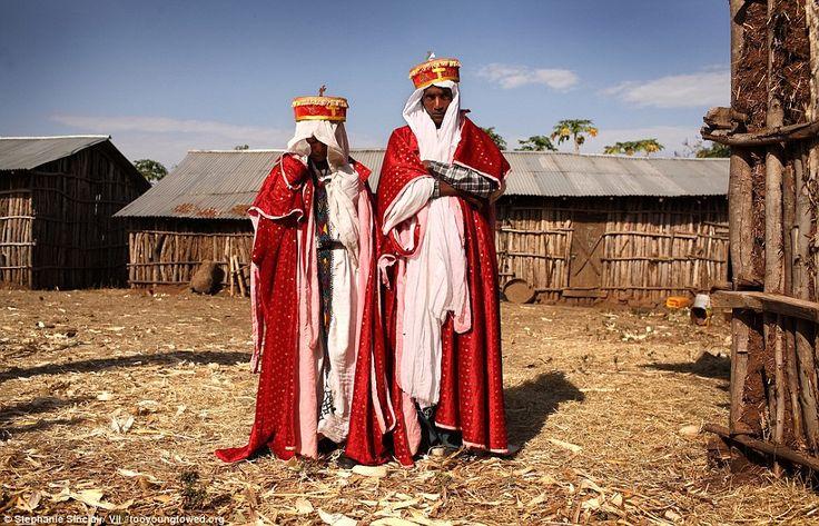 Un prêtre orthodoxe éthiopien et sa femme