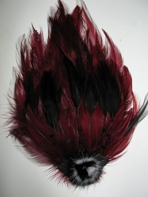 Burgundy Feather Fascinator