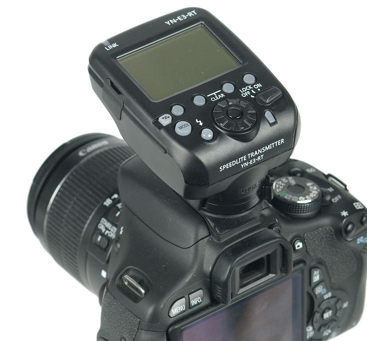 Yongnuo YN-E3-RT är en TTL-sändare, som gör det möjligt att styra upp till 15 st Speedlite 600 EX-RT blixtar i 5 olika grupper. För Canon kameror.
