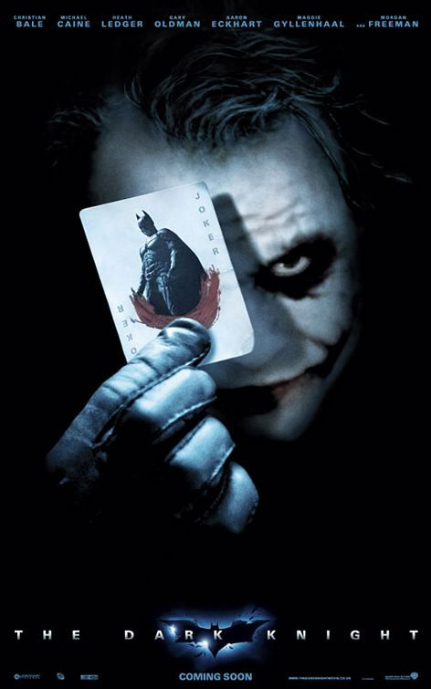 The Dark Knight. Heath Ledger made this a great movie.