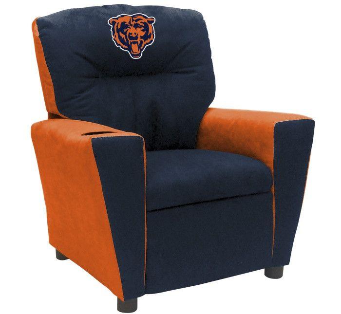 Chicago Bears NFL Kids Fan Favorite Microfiber Recliner - Visit SportsFansPlus.com for more details!