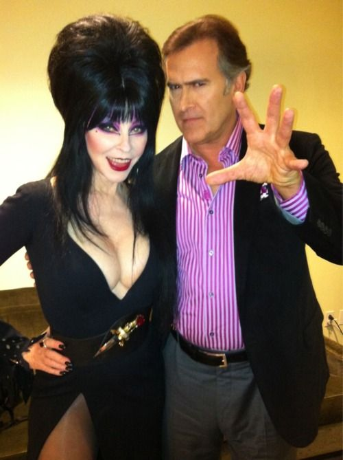 Bruce Campbell and Elvira