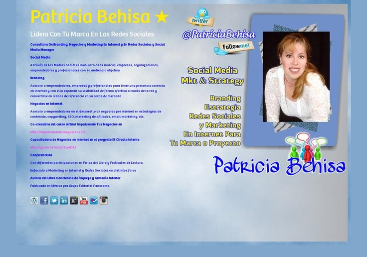 Patricia Behisa ★'s page on about.me – http://about.me/PatriciaBehisa
