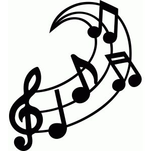 Silhouette Design Store Music Swirl Music Notes