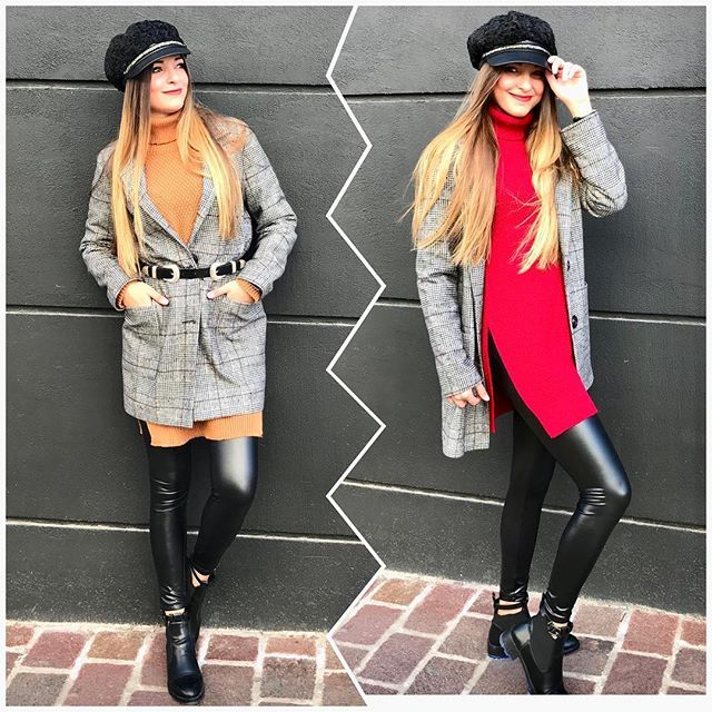 Κρύο με στυλ🧣🧣🧣  Flat 🧢 22.50€  Coat 89.90€  Sweater 32.90€  Legging vinyl 19.90€