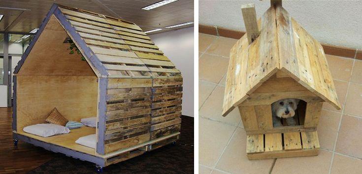 Casas de perro hechas con palets - http://www.mundoperros.es/casas-de-perro-hechas-con-palets/