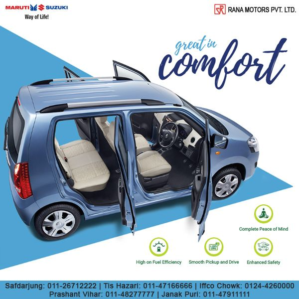 Make all your rides pleasant with an adjustable steering, power windows and the superior Auto Gear Shift technology. http://www.ranamotors.co.in/toolkit/maruti-suzuki-wagonr-en-in.htm  Contact Numbers:- Safdarjung: 011-26712222 Prashant Vihar: 011-48277777 Iffco Chowk: 0124-4260000 Tis Hazari: 011-47166666 Janak Puri: 011-47911111  #MarutiSuzuki #WagonR #AutoGearShift #Technology #Car #RanaMotors #NewDelhi #Gurgaon