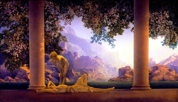"""""""Daybreak"""" 1922, Maxfield Parrish"""