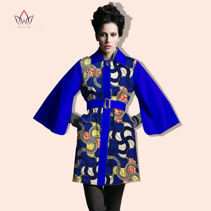 2016 Winter Women Coat blazer African Print Dashiki Women Wax Bazin Riche robe woman Plus Size BRW Y714