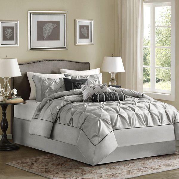 Madison Park Cynthia Grey Comforter Set