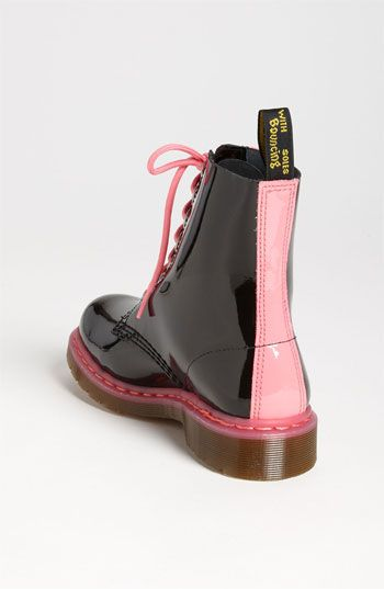 Dr. Martens Pascal Boot in Black/Acid Pink