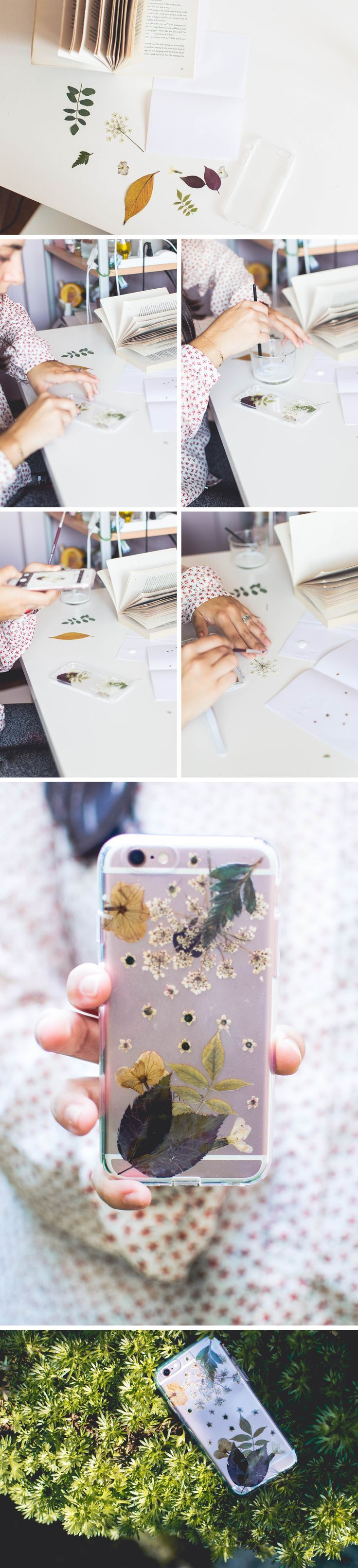Make this easy and gorgeous pressed flower phone case DIY from Pop Shop America - use your pressed flowers for something special.