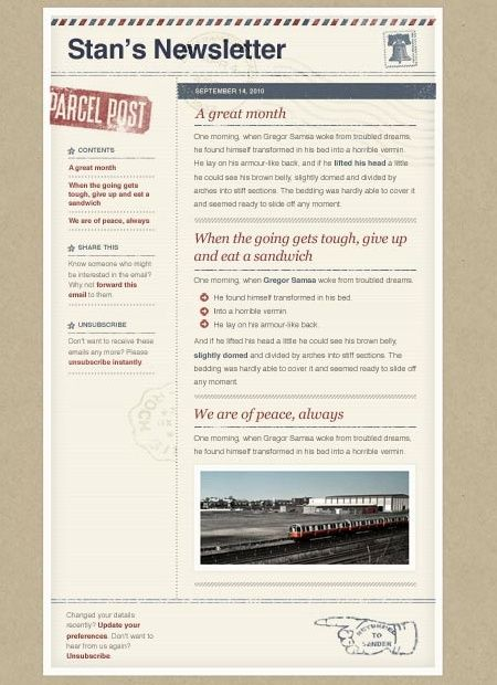 39 Beautiful Email Newsletter Templates - Airmail