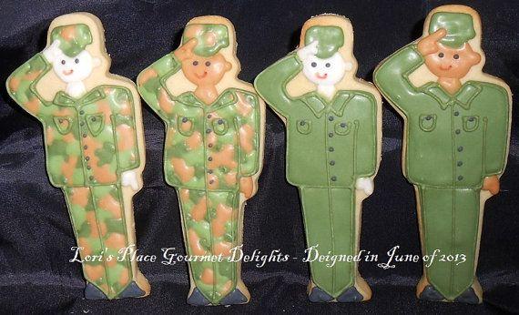 Soldier Cookies  12 Cookies by lorisplace on Etsy, $36.99