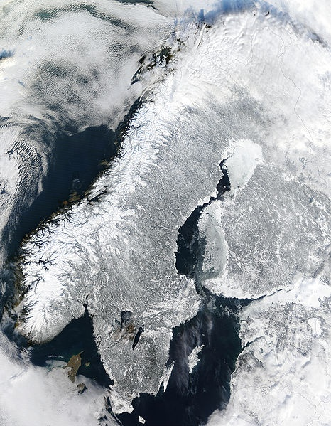 Scandinavia and the Baltic in winter