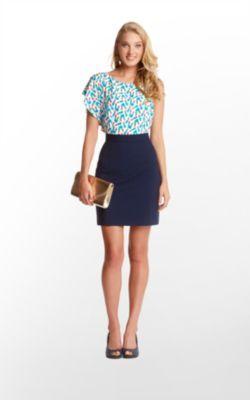 multimedia dress, navy dress, delila dress, lilly pulitzer