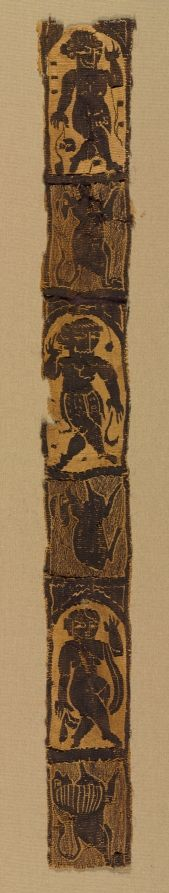 500s.Ornamental Shoulder Bands from a Tunic. Egypt, Byzantine period, Cleveland Museum of Art