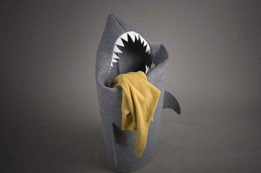 panier-linge-requin